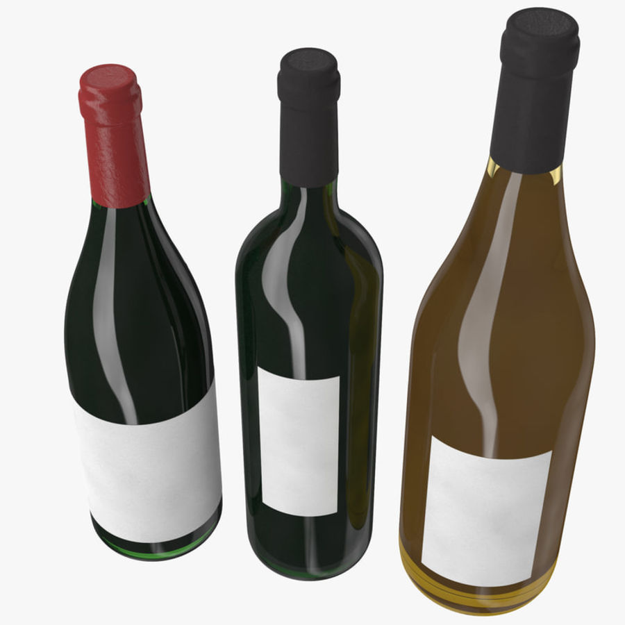 Bottle of wine Collection royalty-free 3d model - Preview no. 7