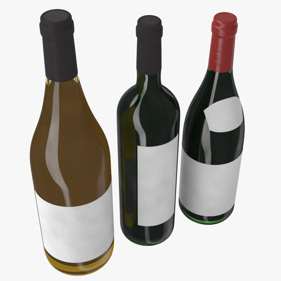 Bottle of wine Collection royalty-free 3d model - Preview no. 6