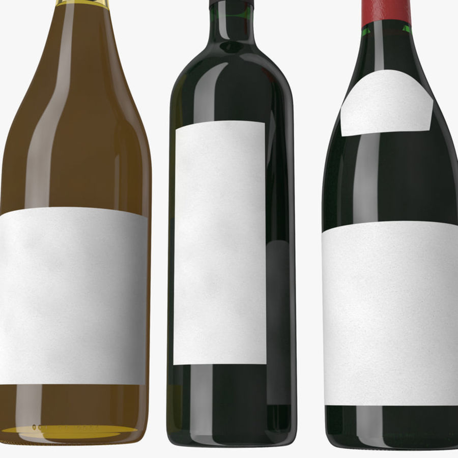 Bottle of wine Collection royalty-free 3d model - Preview no. 9