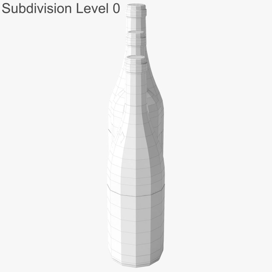 Bottle of wine Collection royalty-free 3d model - Preview no. 32