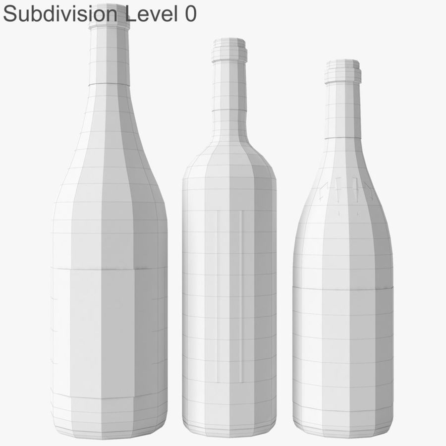 Bottle of wine Collection royalty-free 3d model - Preview no. 30
