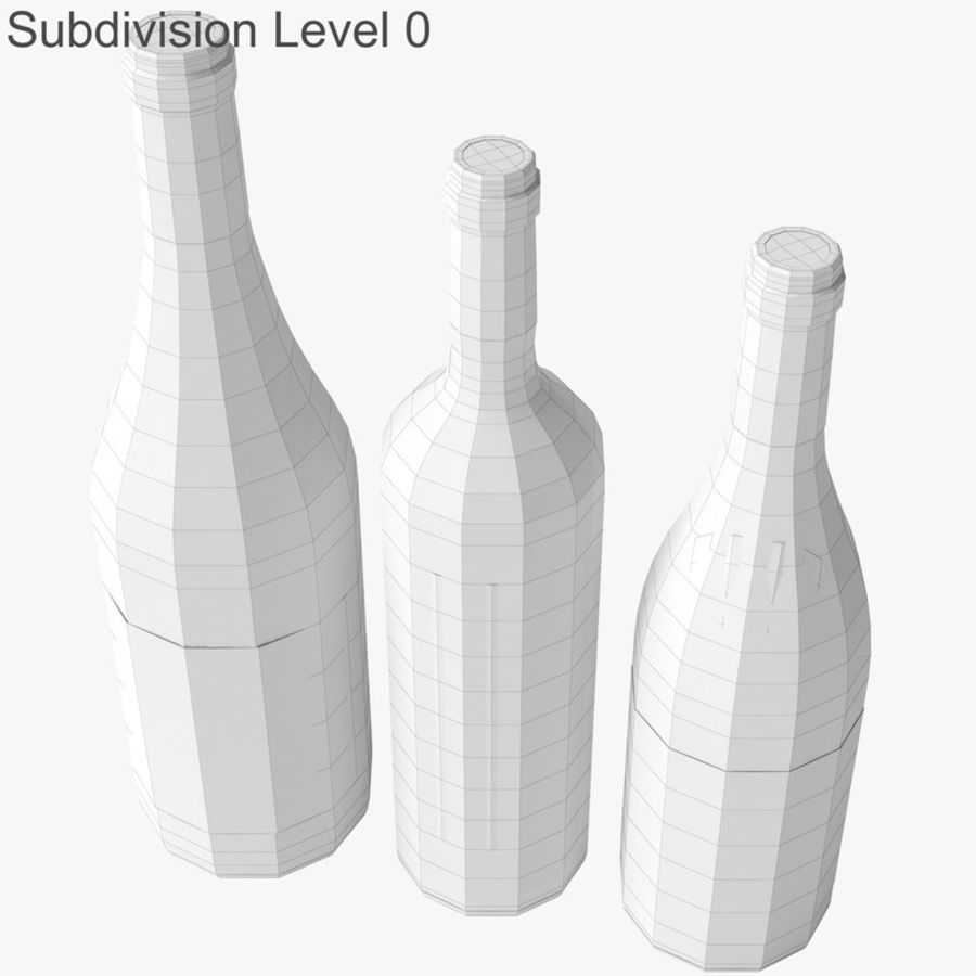 Bottle of wine Collection royalty-free 3d model - Preview no. 22