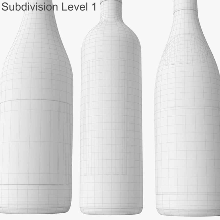 Bottle of wine Collection royalty-free 3d model - Preview no. 41