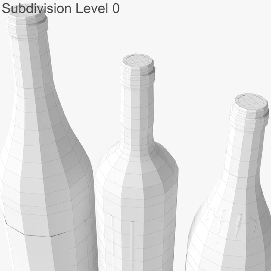Bottle of wine Collection royalty-free 3d model - Preview no. 28