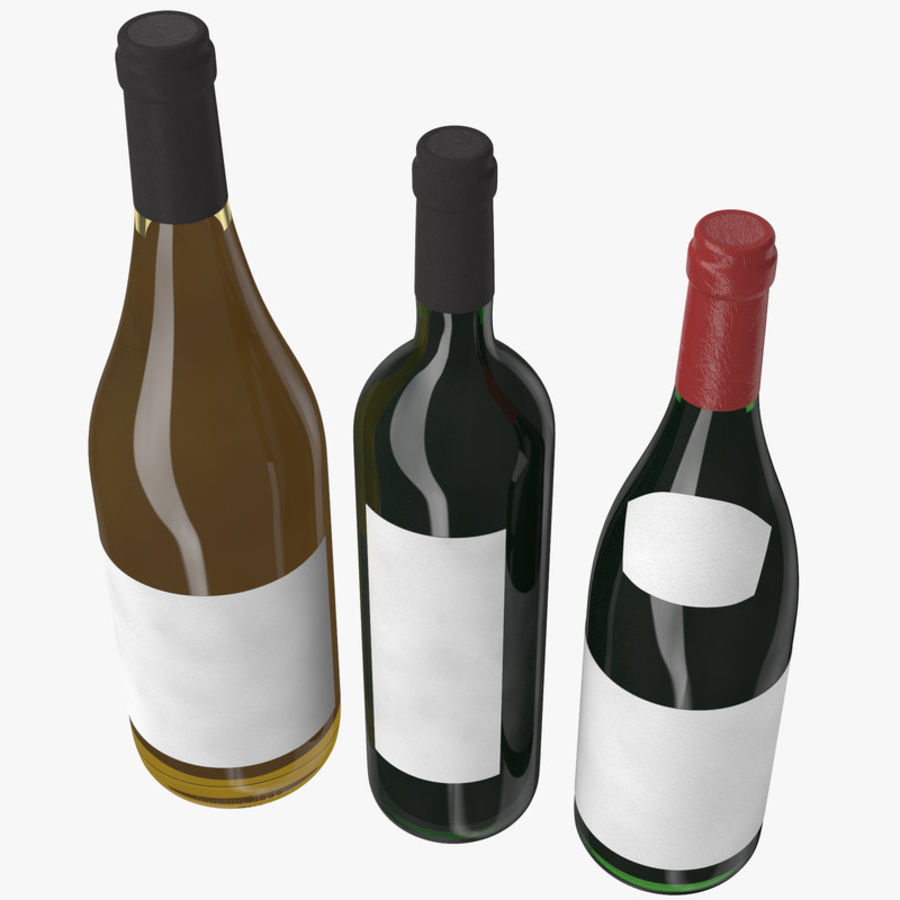 Bottle of wine Collection royalty-free 3d model - Preview no. 5