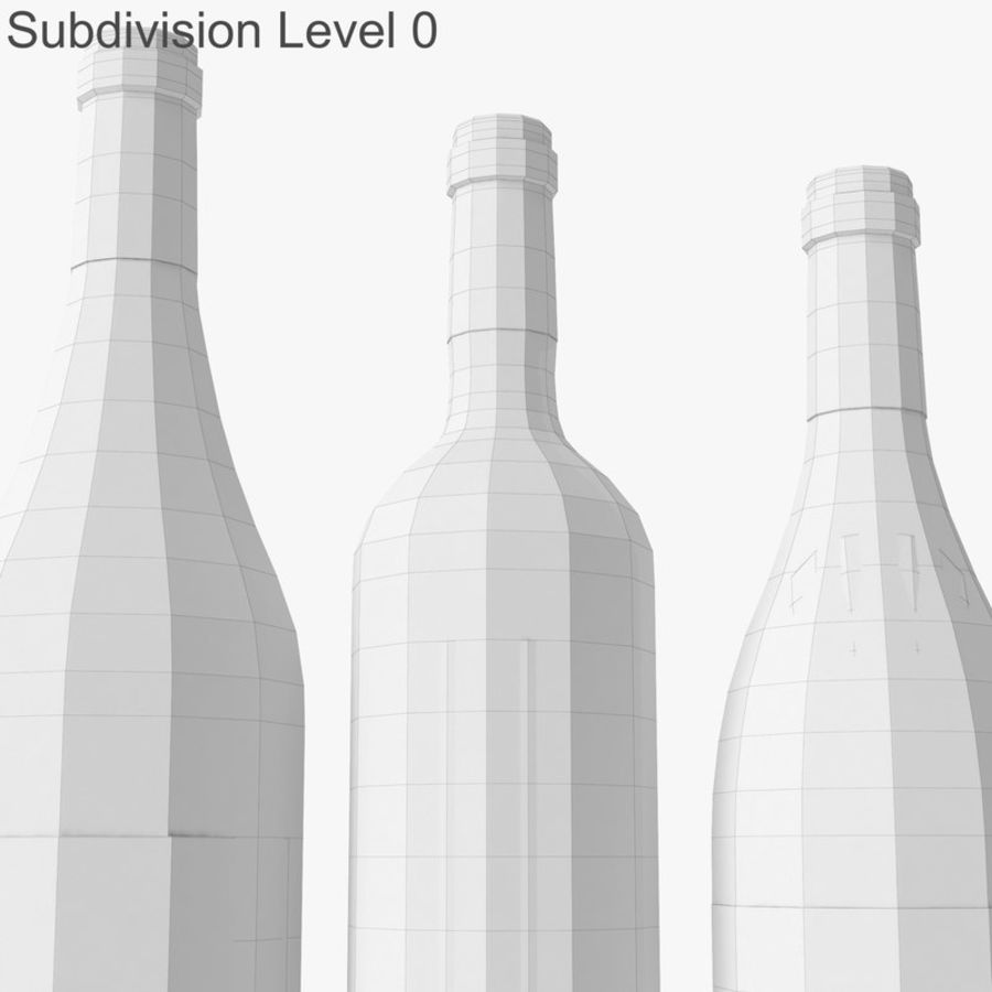 Bottle of wine Collection royalty-free 3d model - Preview no. 25