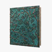 Copper Leaves Book 3d model