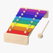 Xilofone para crianças 3d model
