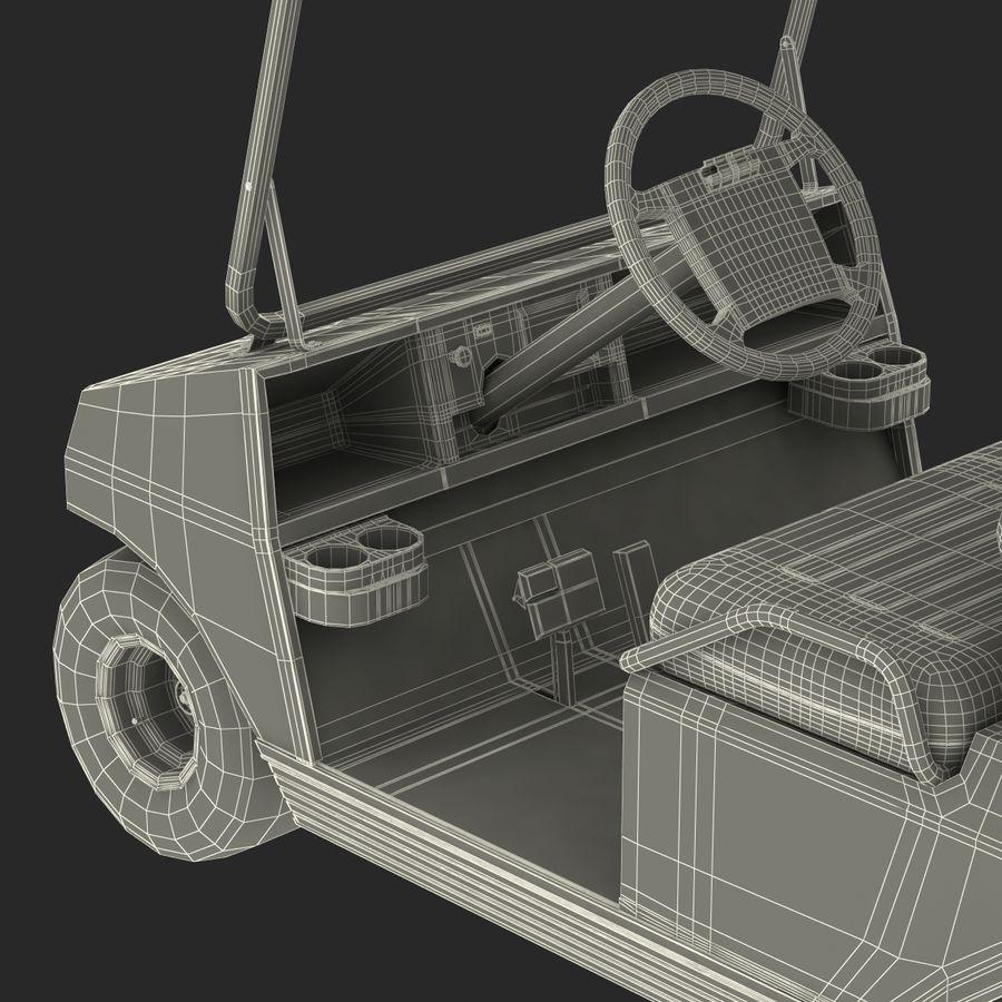 Golf Cart Blue 3D Model royalty-free 3d model - Preview no. 24