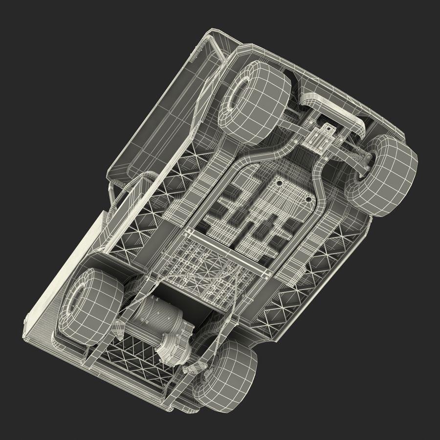 Golf Cart Blue 3D Model royalty-free 3d model - Preview no. 22