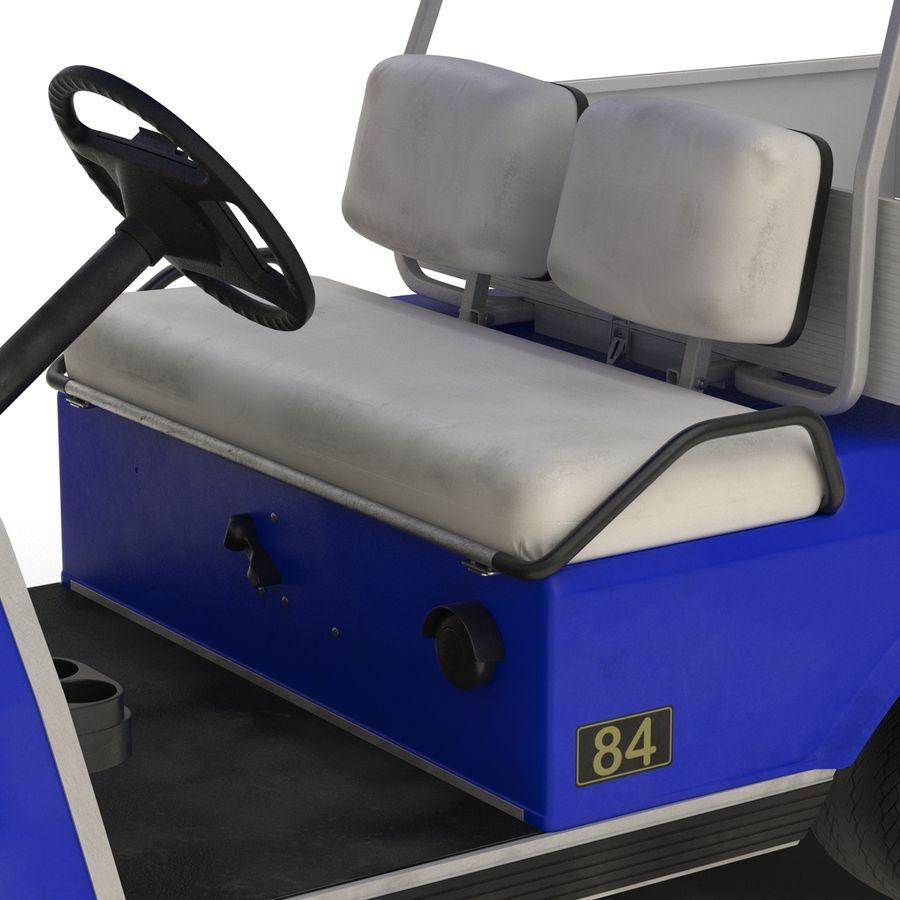 Golf Cart Blue 3D Model royalty-free 3d model - Preview no. 13