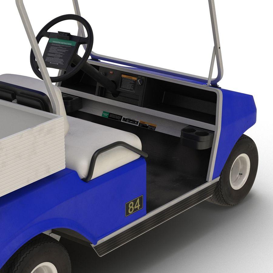 Golf Cart Blue 3D Model royalty-free 3d model - Preview no. 12