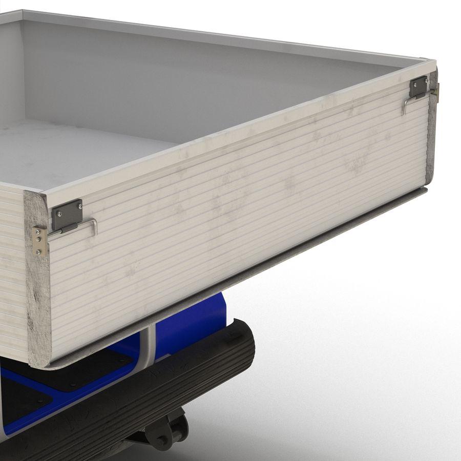 Golf Cart Blue 3D Model royalty-free 3d model - Preview no. 14