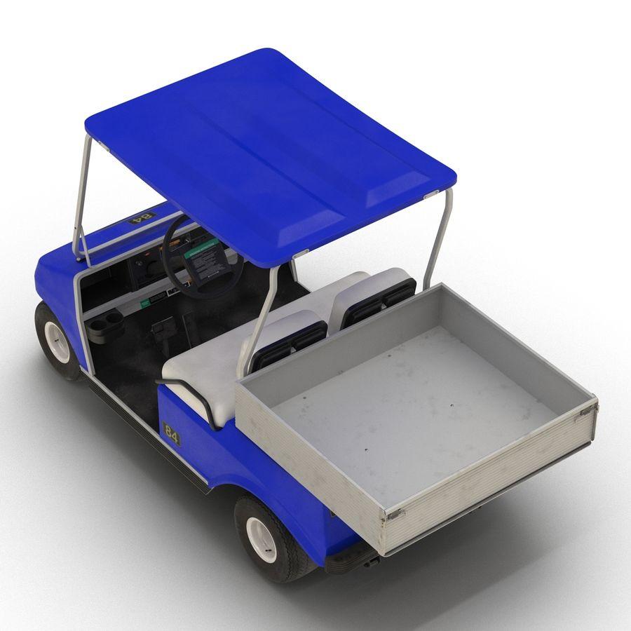 Golf Cart Blue 3D Model royalty-free 3d model - Preview no. 7