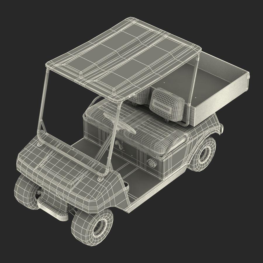 Golf Cart Blue 3D Model royalty-free 3d model - Preview no. 20
