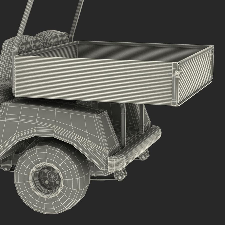 Golf Cart Blue 3D Model royalty-free 3d model - Preview no. 23