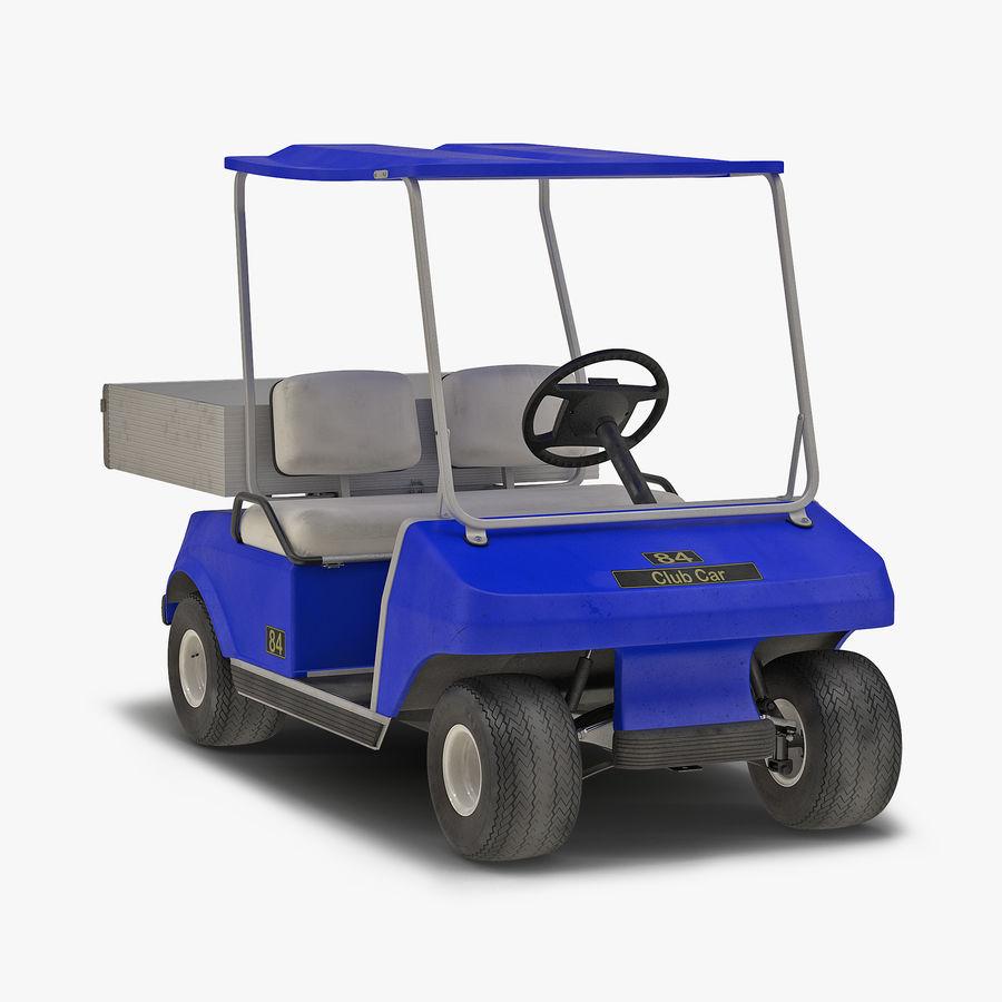 Golf Cart Blue 3D Model royalty-free 3d model - Preview no. 1