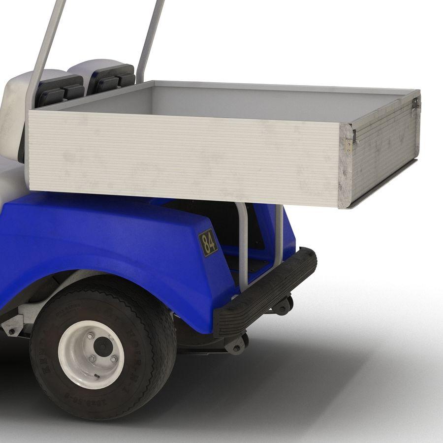 Golf Cart Blue 3D Model royalty-free 3d model - Preview no. 10