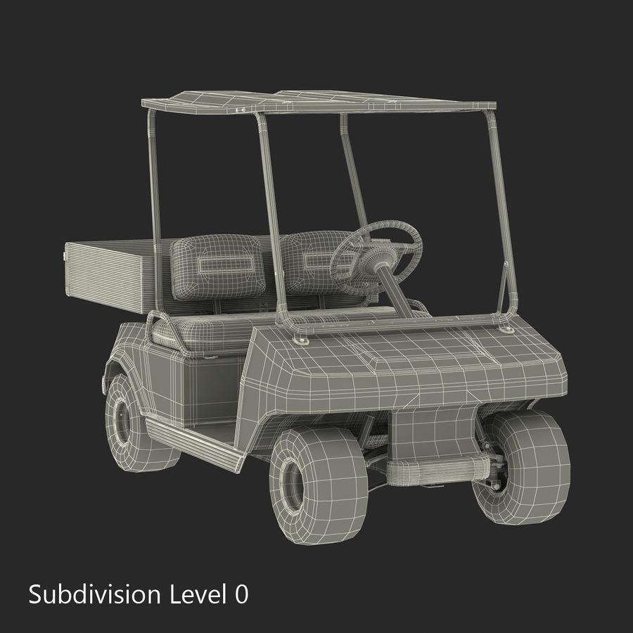 Golf Cart Blue 3D Model royalty-free 3d model - Preview no. 15
