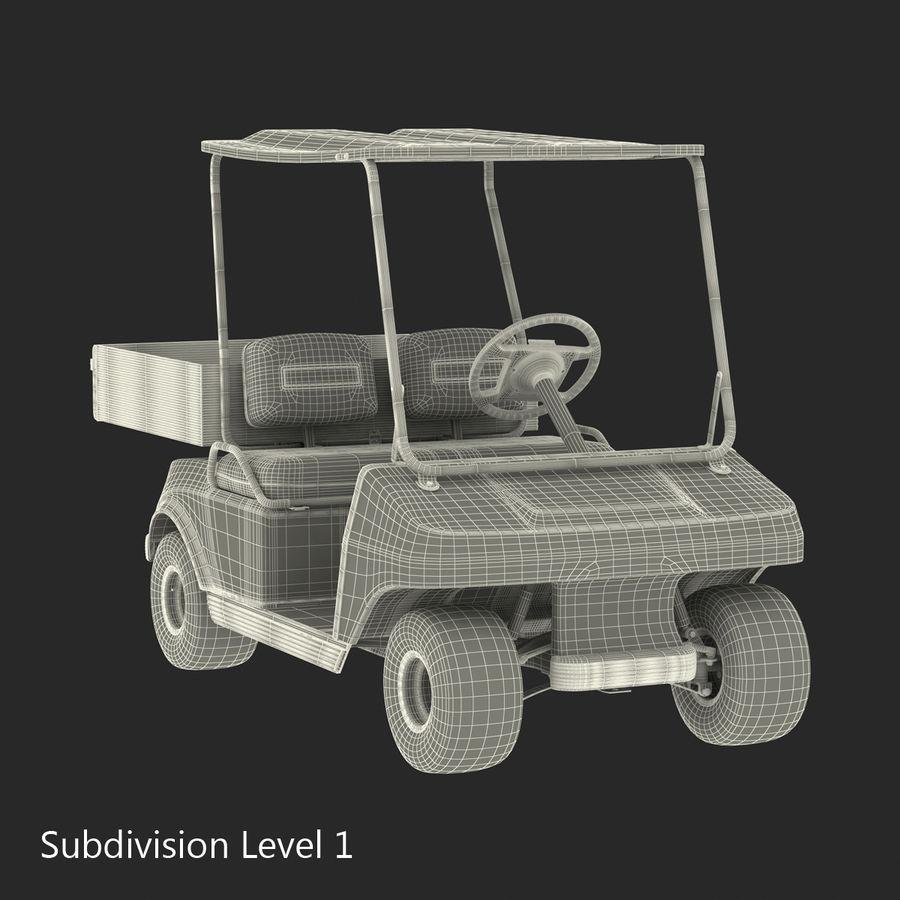 Golf Cart Blue 3D Model royalty-free 3d model - Preview no. 16