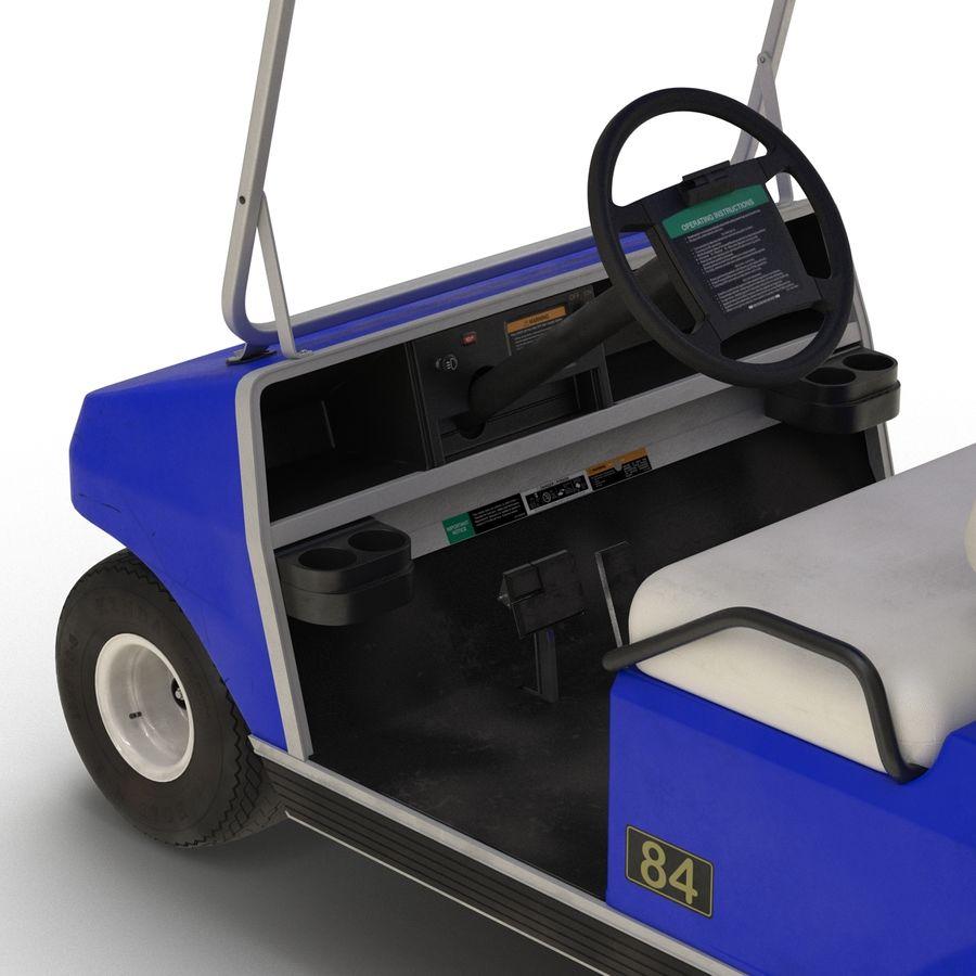 Golf Cart Blue 3D Model royalty-free 3d model - Preview no. 11
