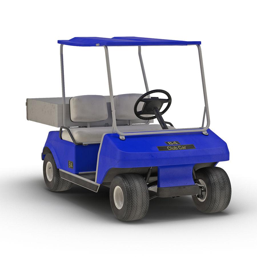 Golf Cart Blue 3D Model royalty-free 3d model - Preview no. 2