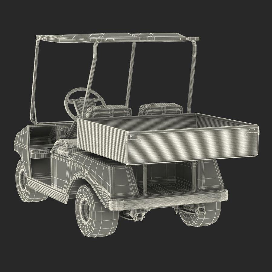 Golf Cart Blue 3D Model royalty-free 3d model - Preview no. 21