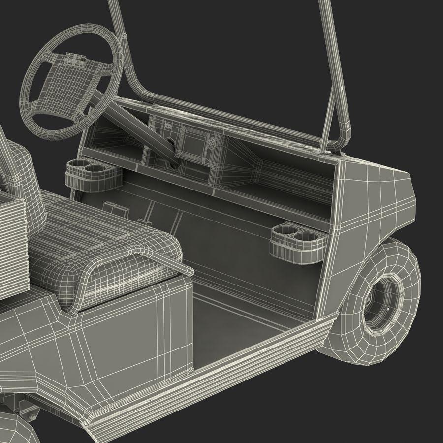 Golf Cart Blue 3D Model royalty-free 3d model - Preview no. 25