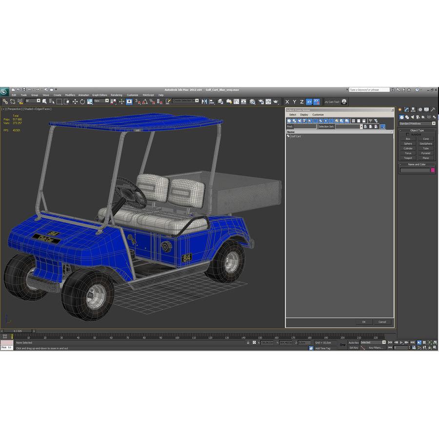 Golf Cart Blue 3D Model royalty-free 3d model - Preview no. 19