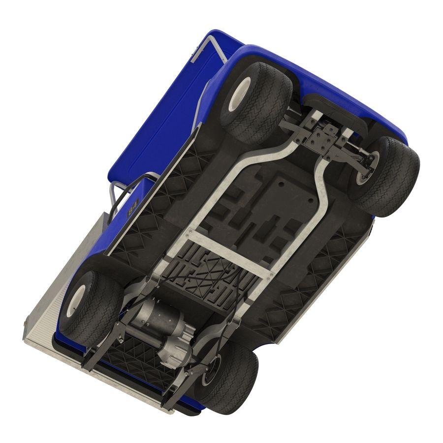 Golf Cart Blue 3D Model royalty-free 3d model - Preview no. 9