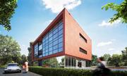 Office Brick Building 3d model