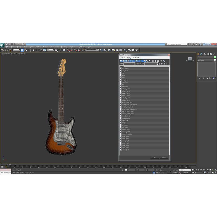 Elektrische Gitarre royalty-free 3d model - Preview no. 35
