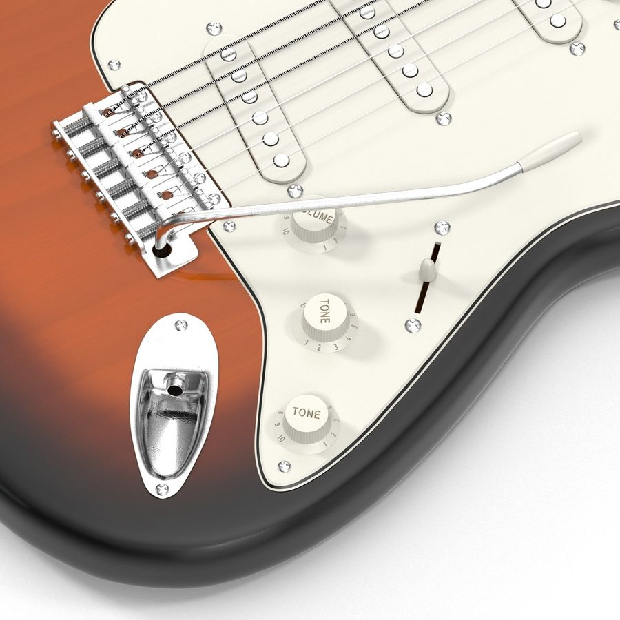 Elektrische Gitarre royalty-free 3d model - Preview no. 19