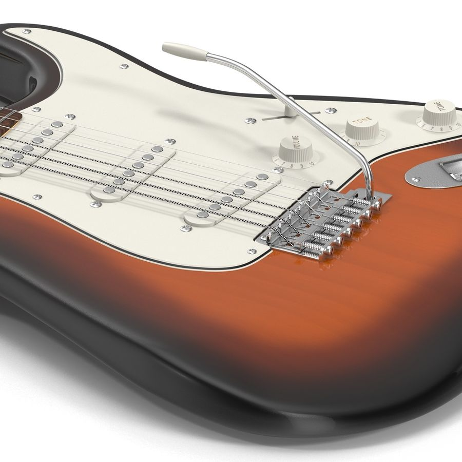 Elektrische Gitarre royalty-free 3d model - Preview no. 22