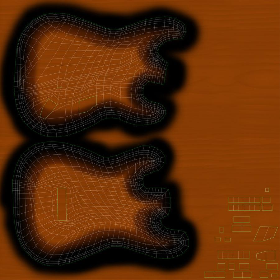 Elektrische Gitarre royalty-free 3d model - Preview no. 30