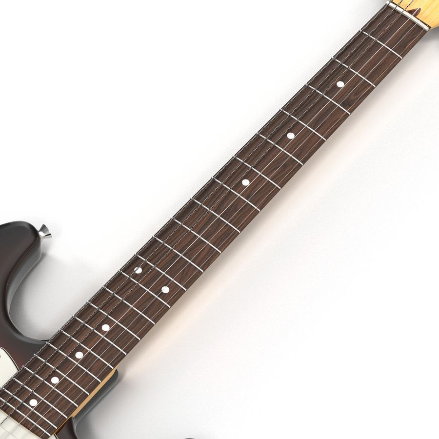 Elektrische Gitarre royalty-free 3d model - Preview no. 18