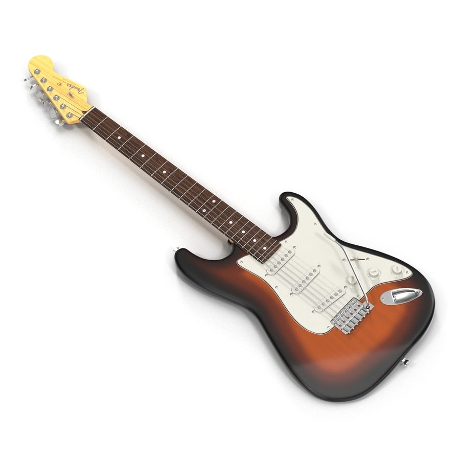 Elektrische Gitarre royalty-free 3d model - Preview no. 4