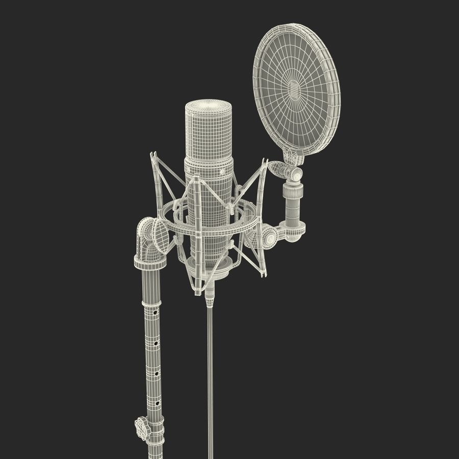 Studio Microphone Rode And Stand 3d Model 3d Model 49 Max Obj Ma C4d 3ds Free3d