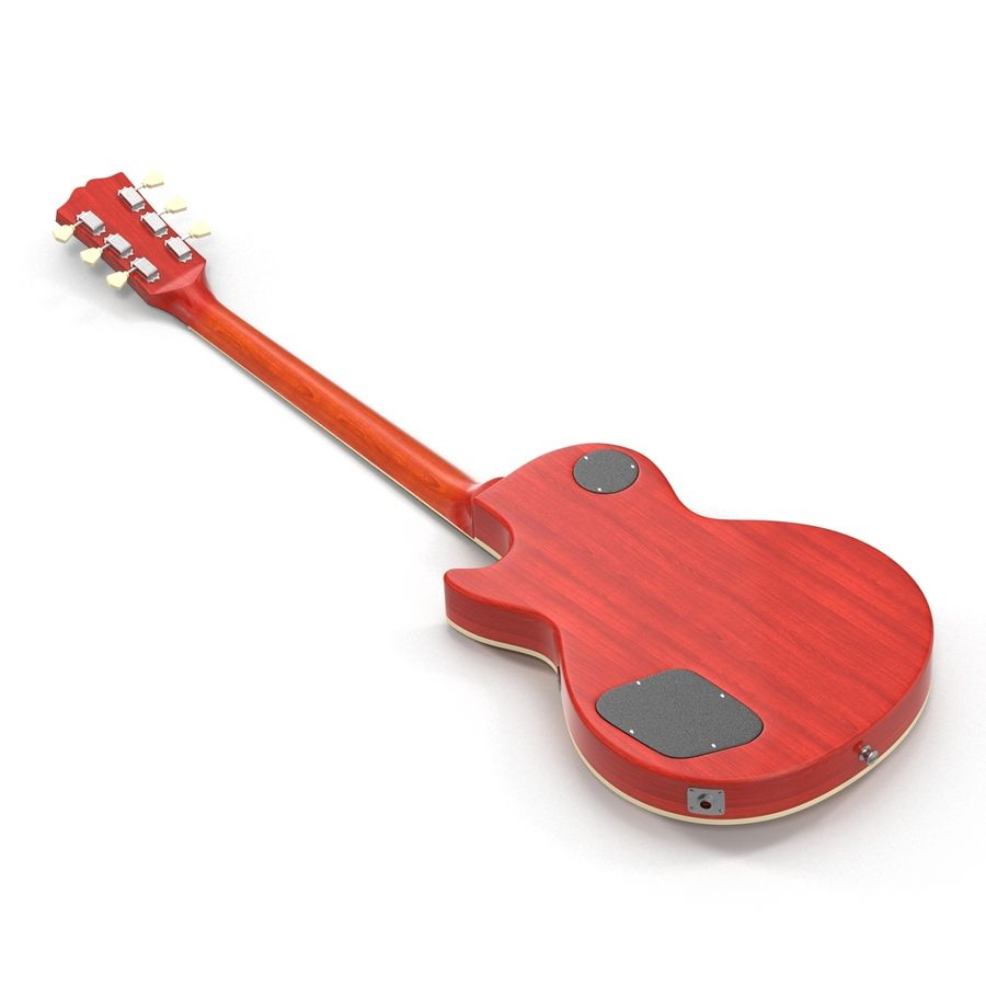 Elektrisk gitarr 2 royalty-free 3d model - Preview no. 7