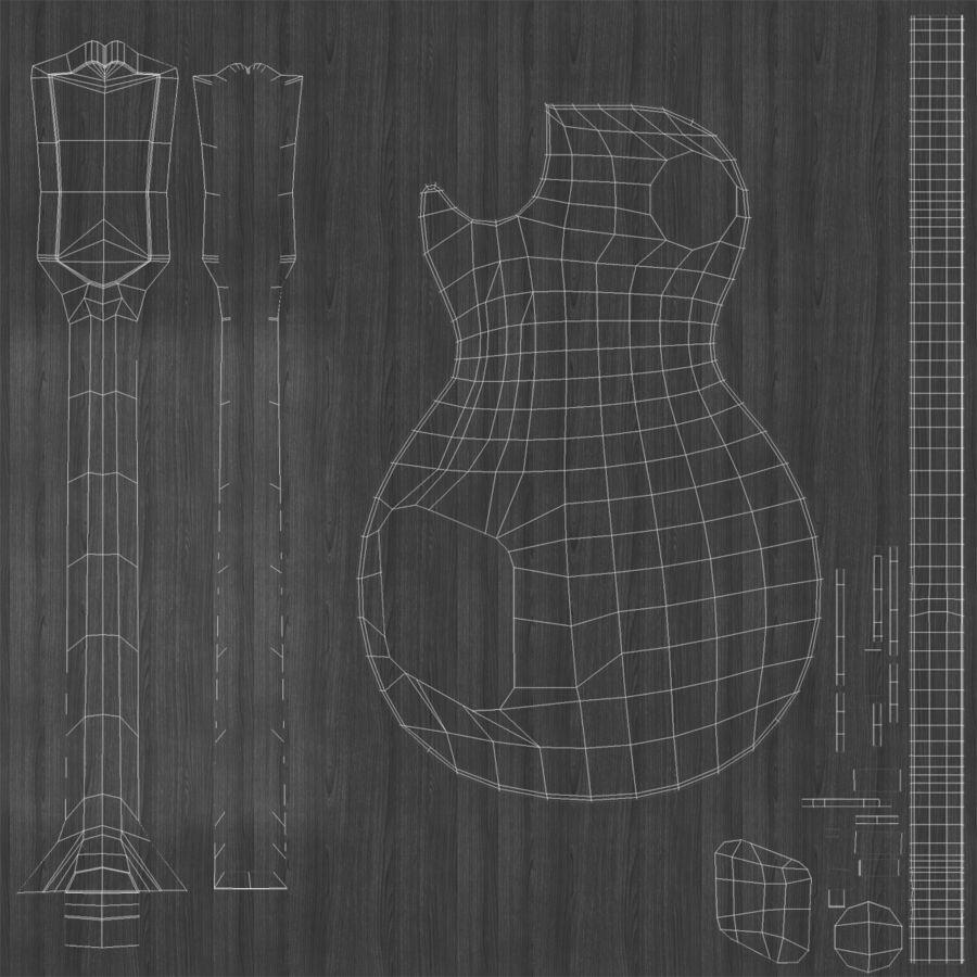 Elektrisk gitarr 2 royalty-free 3d model - Preview no. 32