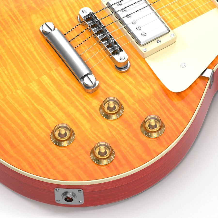 Elektrisk gitarr 2 royalty-free 3d model - Preview no. 19
