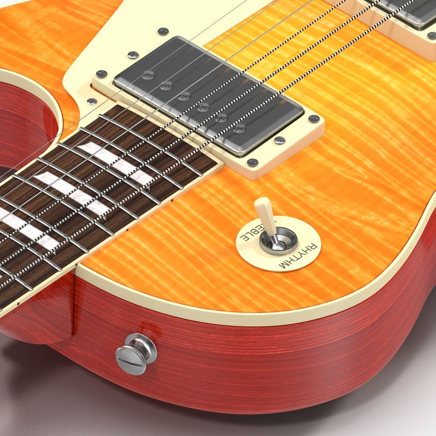 Elektrisk gitarr 2 royalty-free 3d model - Preview no. 21