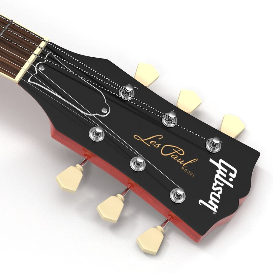 Elektrisk gitarr 2 royalty-free 3d model - Preview no. 17