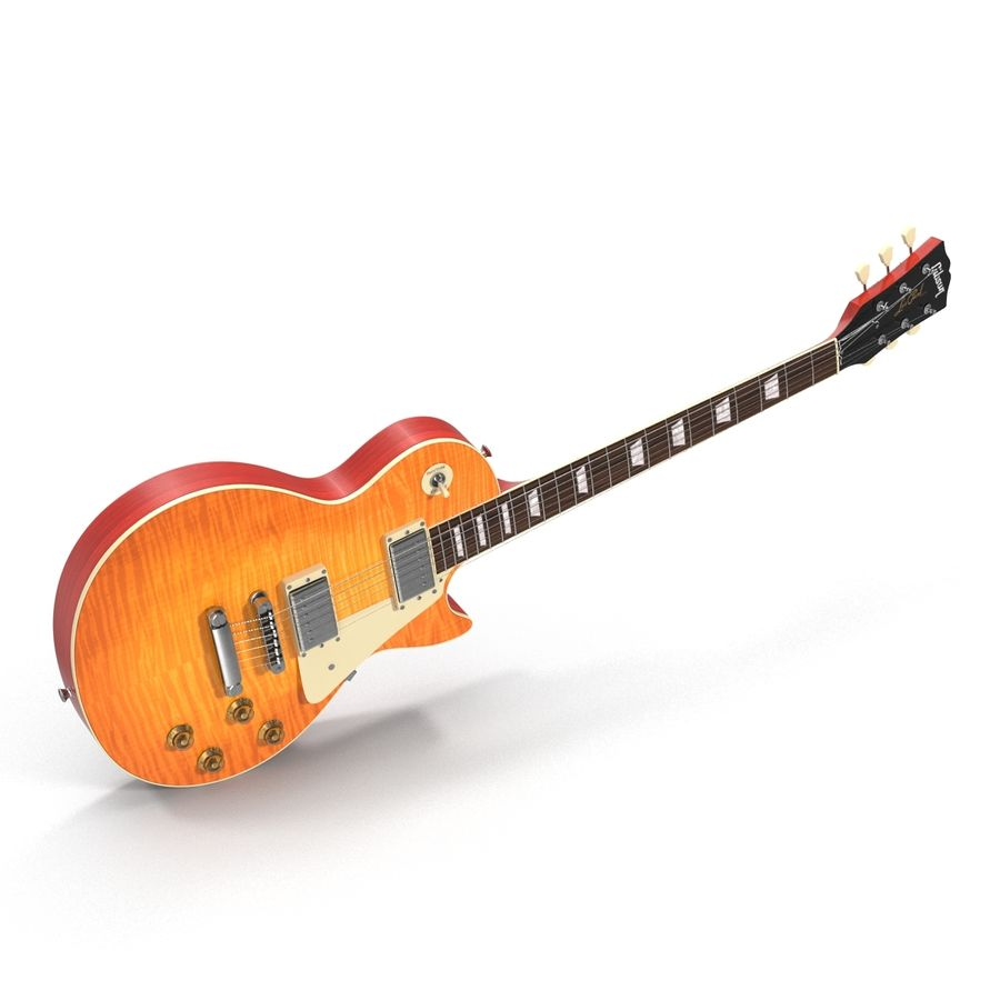 Elektrisk gitarr 2 royalty-free 3d model - Preview no. 11