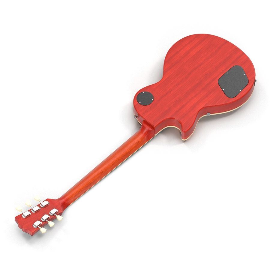 Elektrisk gitarr 2 royalty-free 3d model - Preview no. 8