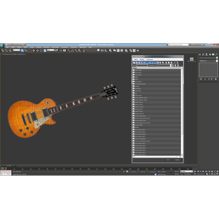 Elektrisk gitarr 2 royalty-free 3d model - Preview no. 34