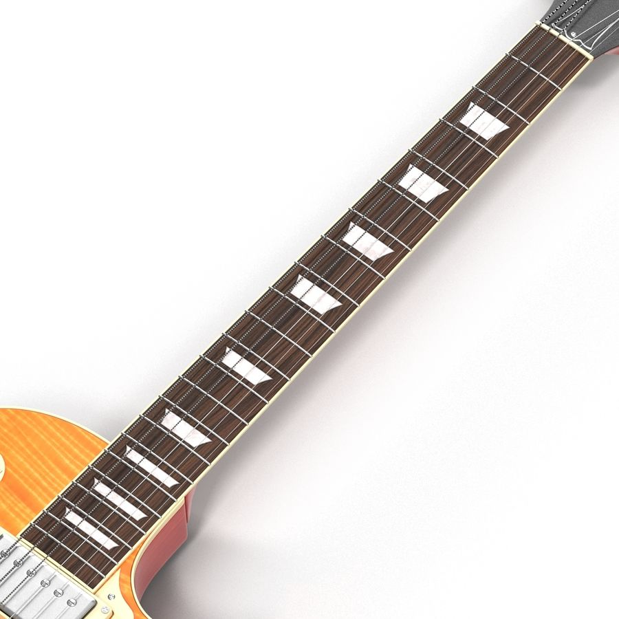 Elektrisk gitarr 2 royalty-free 3d model - Preview no. 18