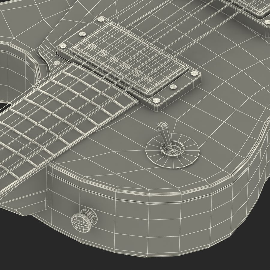 Elektrisk gitarr 2 royalty-free 3d model - Preview no. 46