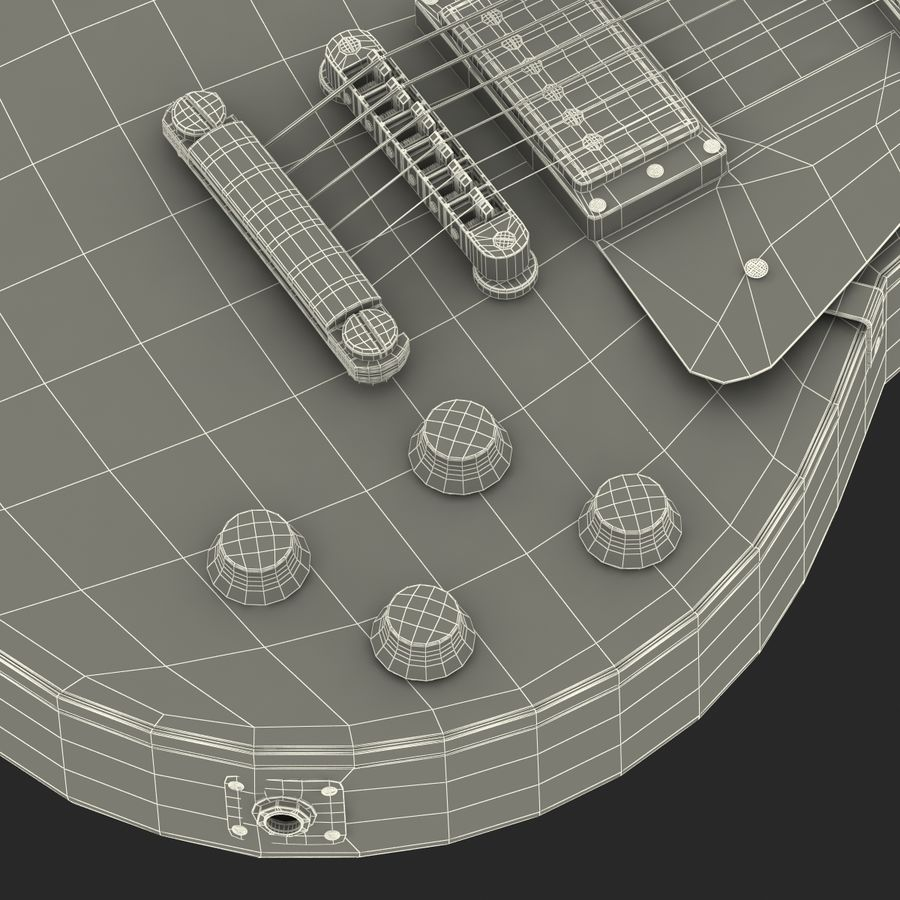 Elektrisk gitarr 2 royalty-free 3d model - Preview no. 44