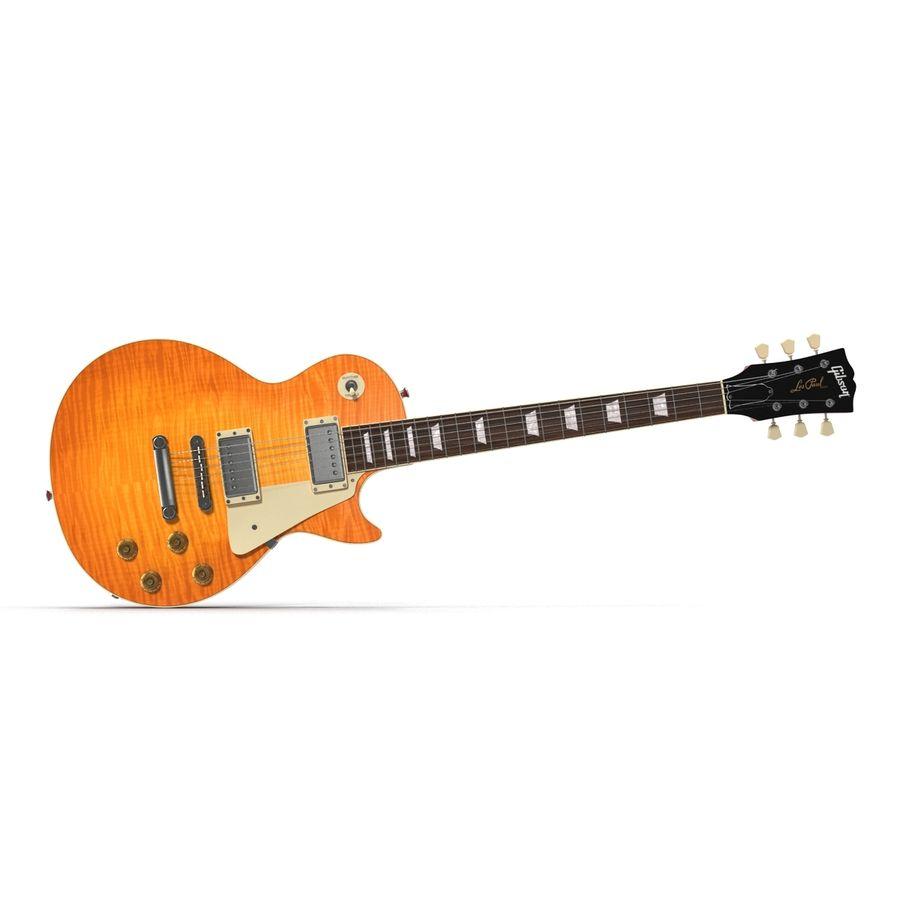 Elektrisk gitarr 2 royalty-free 3d model - Preview no. 9